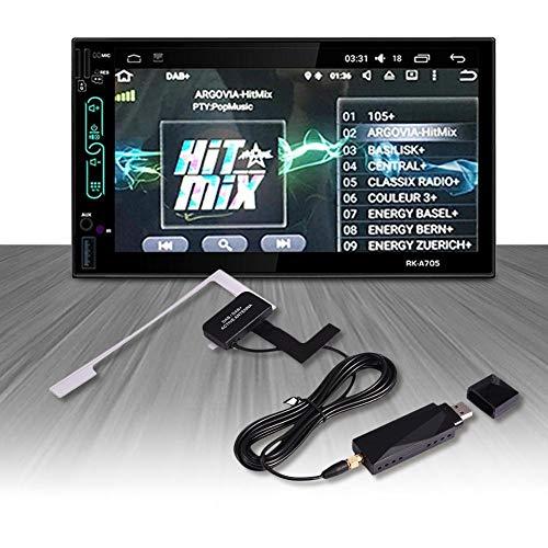 happyhouse009 Universal Smart DAB+ Antenne DAB+ für digitales DAB-Autoradio, USB-Signal-Empfänger, Antenne, digitales Autoradio Stereo Antenne Mehrfarbig (Smart-home-stereo-receiver)