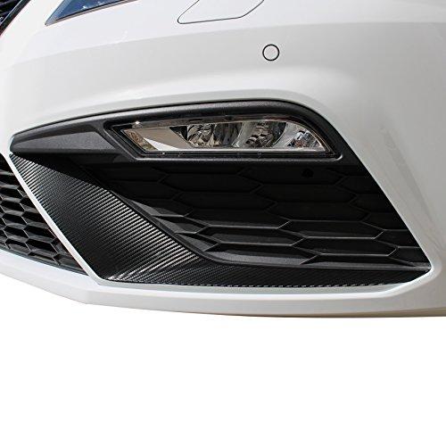 Finest-Folia D049 Spoiler Flap Wing Folie Stoßstange Splitter (3M™ Scotchprint® Wrap Folie 1080 Carbon Straight Fiber Black CF512)