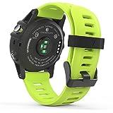 MoKo Garmin Fenix 3 Accesorios, Banda Reemplazo de Silicona Suave Deportiva con Herramientas para Garmin Fenix 3 / Fenix 3 HR Smart Watch - Verde