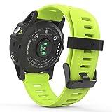 MoKo Garmin Fenix 3 Sport Watch Armband - Silikon Sportarmband Uhr Band Strap Ersatzarmband Uhrenarmband mit Werkzeug für Garmin Fenix 3 / Fenix 3 HR GPS Smart Watch, Grün
