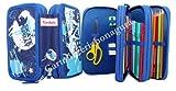 Astuccio 3 Zip Blu Kordata