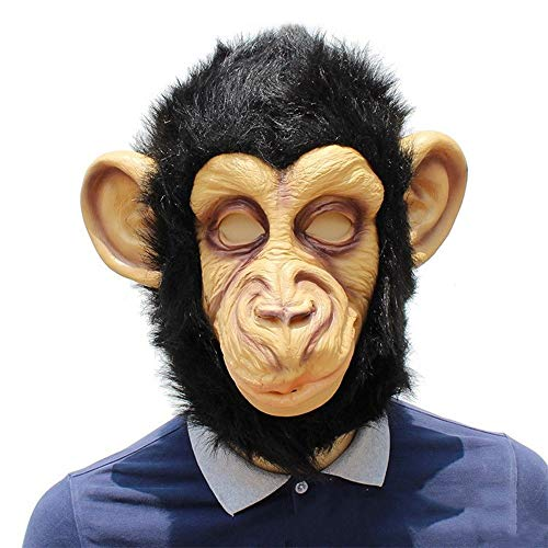 IENPAJNEPQN Lustige Latex Gorilla Kopf Maske Halloween Ball Party Animal Monkey Dress Up Requisiten (Color : Monkey, Size : One - Gorilla Party Animal Kostüm