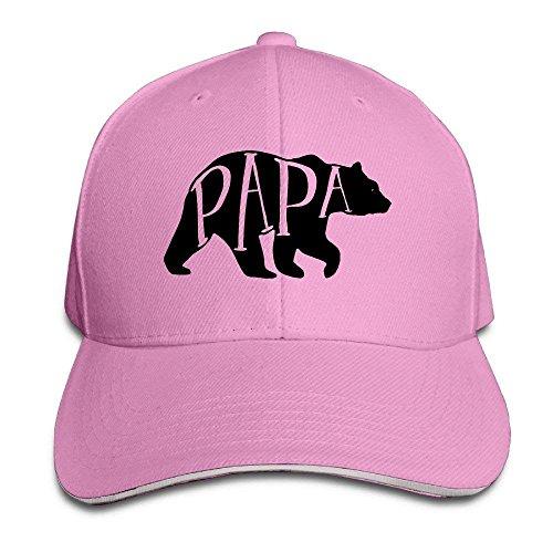 25c76173f Wamnu Papa Bear American Apparel Dads Baseball Caps Fitted Sandwich Cap