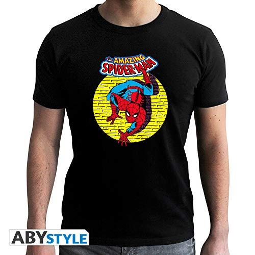 ABYstyle abystyleabytex415-xs Marvel Spider Man Vintage Short Sleeve Herren Neue Fit T-Shirt (XS)