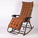 Schaukelstuhl/Klappstuhl/Esszimmerstuhl/Liegestühle/verstellbar Gartenliegen Strandstuhl/Balkon Stuhl/Liegestuhl/Senior Chair/Abnehmbare Wattepad (Farbe : Braun)