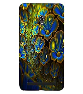 PrintDhaba Flower D-2456 Back Case Cover for ASUS ZENFONE 6 A601CG (Multi-Coloured)