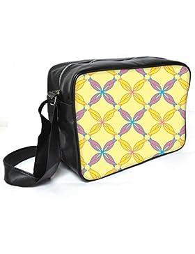 Snoogg Bunte Schleifen Leder Unisex Messenger Bag für College Schule täglichen Gebrauch Tasche Material PU