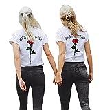 Lueyifs Best Friends Damen Rose T-Shirts Oberteil Mädchen - Best Reviews Guide