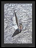 Carlo Borlenghi Stampa D'Arte e Cornice (MDF) Nero - Maxi Yacht - Rolex Cup (80 x 60cm)