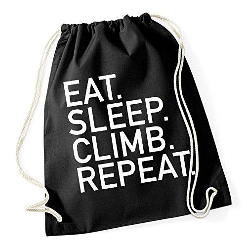 Eat Sleep Climb Repeat Sac De Gym Noir Certified Freak
