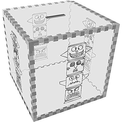 Large 'Totem Pole' Clear Money Box / Piggy Bank (MB00031033)