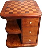 Casa Padrino Art Deco Spieltisch Schach/Dame Mahagoni Mod2 L 50 x B 50 x H 55 cm - Möbel Antik Stil Barock
