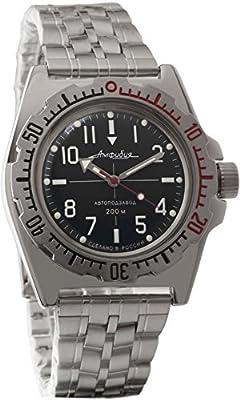 Vostok 2415de anfibios 110647Militar ruso reloj mecánico de Vostok Amphibian