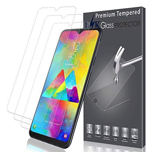 K&L [3 Stück] LK Schutzfolie für Samsung Galaxy M20, Samsung Galaxy M20 Panzerglasfolie, [Bubble Free] HD Klar Gehärtetem Glas Displayschutz [Lebenslanger Ersatz Garantie]