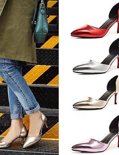 WSS 2016 Chaussures Femme-Mariage / Extérieure / Habillé / Décontracté-Rose / Rouge / Argent / Or-Talon Cône-Confort / Bout Pointu-Talons- pink-us5.5 / eu36 / uk3.5 / cn35