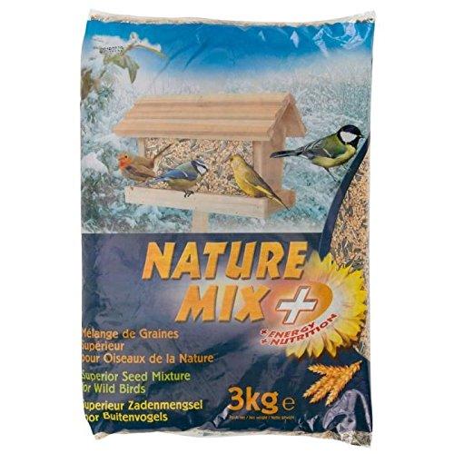 Agrobiothers Nourriture Nature Mix+ 3 Kg pour Oiseaux et Animaux Sauvages