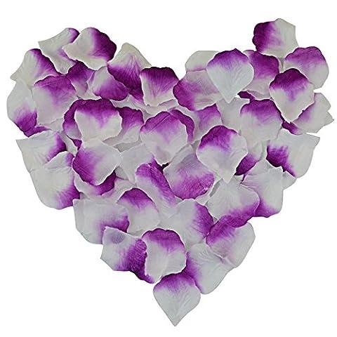 candora® Vintage 2000pc/Set schöne Hochzeit Blütenblätter Blumen Seide Rose Dekoration für Hochzeit violett