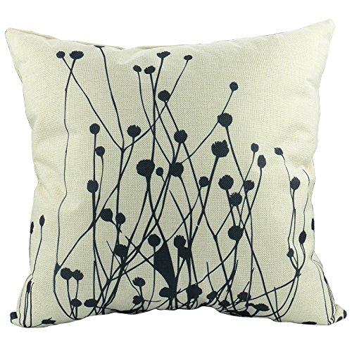Luxbon Stilvoll Einfachheit Löwenzahn Blume Kissenbezug Lendenkissen Pillowcase Auto Haus Deko 18 x 18 '' (Halloween-muster Einfachheit)