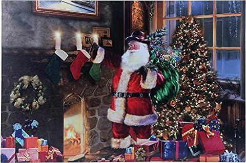 insatech LED Bild AMERICAN SANTA 600x400mm Weihnachtsbild mit Weihnachtsmann