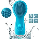 Facial Cleansing Brush, MANFLY Personalized Silicone rechargeable waterproof Face Brush Sonic Electric Face