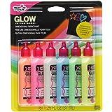 Tulip Glow Pack de 6 Flacons de Couleurs phosphorescentes pour Peinture 3D 37 ml