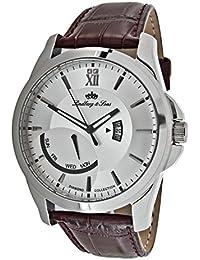 Lindberg & Sons Herren-reloj analógico de pulsera de cuarzo cuero LS111191