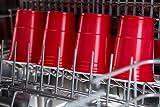 TRESKO Rote Partybecher 100 Stück | Beer Pong Party Cups | 473 ml (16 oz) | Bierpong Becher extra stark | Kunststoffbecher Plastikbecher Camping - 6