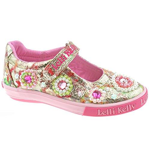 Lelli Kelly LK4080 (BX02) Multi Fantasy Candy Dolly Shoes-33 (UK 1)