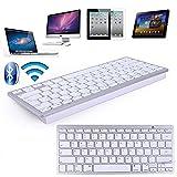 Generic Aluminum Plated Bluetooth Wireless Keyboard For IPad 3 4 5 6 Pro