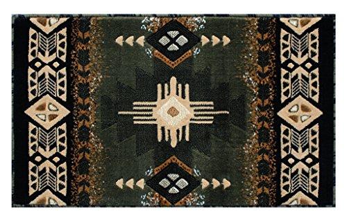 Concord Global Trading South West Native American Matte Bereich Teppich Design C318Salbei Grün (61x 101,6cm) Matte (Salbei Grün-teppich)