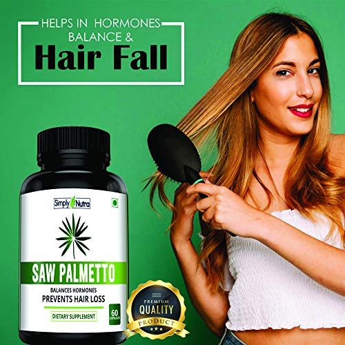 Simply Nutra Saw Palmetto Serenoa Repens 100% Natural Extract 60 veg capsules 800mg for hair growth (1)