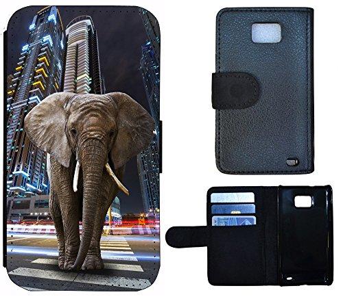Schutz Hülle Flip Cover Handy Tasche Etui Case für (Apple iPhone 6 / 6s, 1271 Hund Dick Welpe) 1275 Elefant Wolkenkratzer Grau Blau