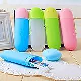sunnymi Portable ★ Zahnbürste Zahnpasta Aufbewahrungsbox ★Reise Schutzhülle Camping Travel Kit