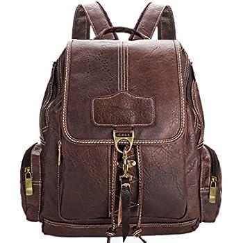 UTO Women Handbag PU Leather Backpack Purse Rivet Studded Shoulder ...