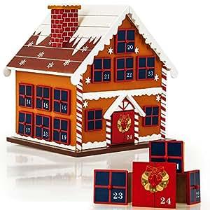calendrier de l 39 avent maison en bois remplir soi m me d coration noel cuisine. Black Bedroom Furniture Sets. Home Design Ideas