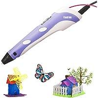 Stampante 3D,Cadrim Penna Stampa 3D Intelligent 3D Pen Display LED,Filamenti per la Creazione e la Pittura Doodling,Grande regalo per i capretti (3D Pen)