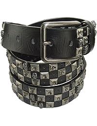 Clásico Business Cinturón Negro con Hebilla de elegante diseño 3,5cm de ancho