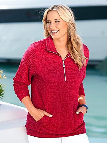 Damen Sweatshirt aus Strukturware by MIAMODA Rot