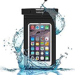 TURATA wasserdichte Handyhülle wasserdichte Hülle wasserfeste handyhülle staubdicht Schützhülle für iPhone X 8 7 6s 6 Plus 5s Samsung S8 S7 S6 bis zu 6 Zoll (1 Stücke)