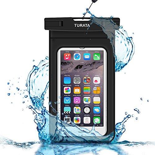 Wasserdichte Handyhülle TURATA Wasserdichte Hülle wasserfeste handyhülle staubdicht Schützhülle für iPhone X 8 7 6s 6 Plus 5s Samsung S8 S7 S6 bis zu 6 Zoll