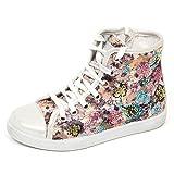 HAPPINESS E2314 Sneaker Bimba Tissue Flower Scarpe Glitter Shoe Kid Girl [28]