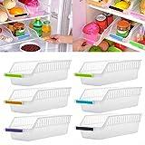 Gemini_mall® Kitchen Refrigerator Organizer Space Saver Slide Under Shelf Rack Holder Freezer Storage Box Basket Container (Pack of 1, Random Color)