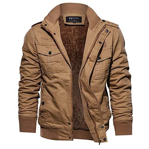 Yvelands Herren Mantel Jacke Winter Military Clothing Pocket Tactical Outwear verdickt Kaschmirmantel