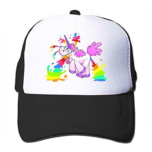 Hittings OugtherH Unicorn Makes Rainbow Adjustable Printing Mesh Cap Unisex Adult Sun Visor Baseball Mesh Hat Black par  Hittings