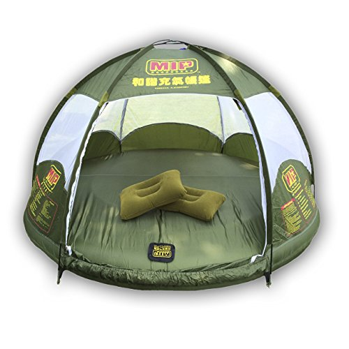 ostoutdoor , inflatable family tent 4 person large space, waterproof for outdoor camping car travel with zippered door and inflatable bladder, water floating and anti snake.