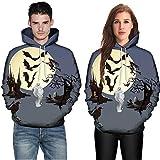 OverDose Damen Liebhaber Stil Männer Frauen Modus 3D Print Langarm Halloween Paare Clubbing Grill Party Sport Hoodies Top Bluse Shirts