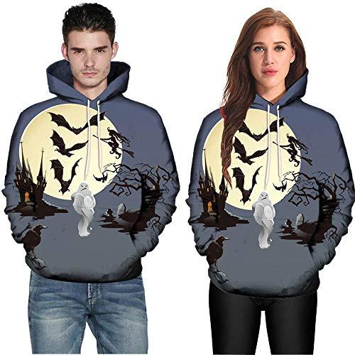 faschingskostuem qualle OverDose Damen Liebhaber Stil Männer Frauen Modus 3D Print Langarm Halloween Paare Clubbing Grill Party Sport Hoodies Top Bluse Shirts