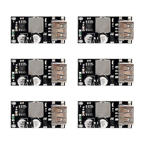 Descripciones:                      caracteristicas:                 Voltaje de alimentación: 6V- 32V   Voltaje de salida: predeterminado 5V, ajuste automáticamente de 3v a 12V después de activar la carga rápida   Potencia de salida: hasta 24...