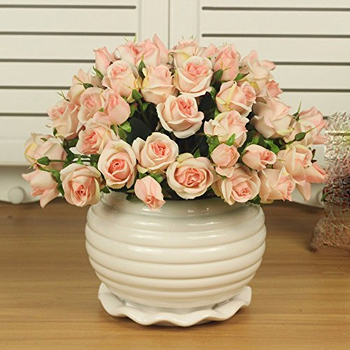 mesmj-kunstliche-blumen-bouquet-bonsai-home-decor-rose-hellrosa