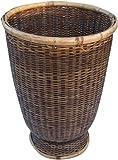 Guru-Shop Rattan Papierkorb, Asiatischer Korb, Größe: Groß (D-30 cm, H-45 Cm), Körbe & Korbtaschen